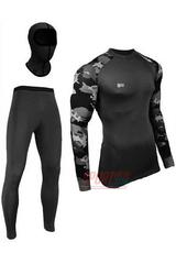 Фото 4 Термобельё мужское спортивное Rough Radical Military Black, комплект с балаклавой, чёрный, тёплый