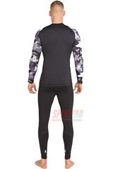 Фото 3 Термобельё мужское спортивное Rough Radical Military Black, комплект с балаклавой, чёрный, тёплый