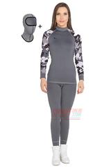 Термобельё женское спортивное Radical Rough Military grey, термокостюм с балаклавой, теплый, серый