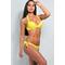 Фото 2 Купальник раздельный Katrin 862-1-Yellow, жёлтый, с пуш-ап и косточками