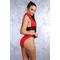 Фото 2 Купальник раздельный красный Totalfit KR16-C4 с черными вставками