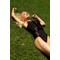 Фото 2 Купальник сдельный черный с сеткой Totalfit KS8-C10/25