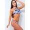 Фото 2 Раздельный купальник Katrin 808-Blue Hibiscus, голубой с рисунком