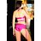 Фото 3  Раздельный купальник с юбкой малиновый Totalfit KR5-C30