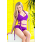Раздельный купальник с юбкой Totalfit KR5-C28 Фиолетовый