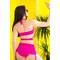 Фото 2  Раздельный купальник с юбкой Totalfit KR5-C3  Малиновый