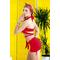 Фото 3  Раздельный купальник с юбкой Totalfit KR5-C4 Красный