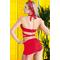 Фото 2  Раздельный купальник с юбкой Totalfit KR5-C4 Красный