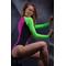 Фото 2 Сдельный купальник с длинным рукавом Totalfit KS7-C3/29 разноцветный