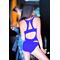 Фото 2 Слитный купальник с сеткой Totalfit K4-С12, синий