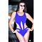 Слитный купальник с сеткой Totalfit K4-С12, синий