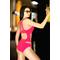 Фото 2 Слитный купальник с сеткой Totalfit K4-С27, красный