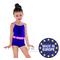 Фото 2 Купальник детский закрытый Shepa 071, синий с розовыми полосками