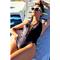 Фото 2 Купальник сатиновый сдельный Totalfit KS9-C25 черный со шнуровкой
