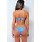 Фото 3 Раздельный купальник Katrin 808-Jungle, голубой с рисунком