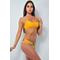 Фото 2 Раздельный купальник Katrin 812-Indian Yellow, желтый с цветочным рисунком