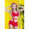 Раздельный купальник с юбкой Totalfit KR5-C4 Красный