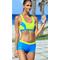 Фото 4 Раздельный спортивный купальник Aqua Speed Fiona, топ и шортики, голубой с желтым