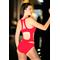 Фото 2  Сдельный купальник с сеткой  Totalfit  K4-С4  краснный