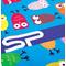 Фото 3 Быстросохнущее детское полотенце Spokey Ibiza 80х160, с охлаждающим эффектом, голубое с совами