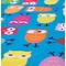 Фото 2 Быстросохнущее детское полотенце Spokey Ibiza 80х160, с охлаждающим эффектом, голубое с совами
