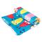 Быстросохнущее детское полотенце Spokey Ibiza 80х160, с охлаждающим эффектом, голубое с совами