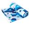 Охлаждающее полотенце Spokey Menorca 100х180, быстросохнущее, синее с белым