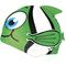 Шапочка для плавания детская Spokey Rybka (87468), зеленая