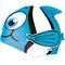 Шапочка для плавания детская Spokey Rybka (87471), голубая