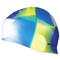Шапочка для плавания Spokey Abstract (85371), синяя с желтым и белым