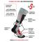 Фото 2 Термо носки горнолыжные, сноубордические FILMAR FACTORY SKI PROFESSIONAL, светло-серые, тёмные вставки, PRO