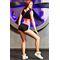 Фото 3  Шорты для фитнеса Totlafit P-7  Черный с розовым