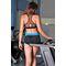 Фото 2  Спортивные шорты Totalfit H11-C5, черные с голубым поясом