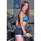 Спортивные шорты Totalfit H11-C5, черные с голубым поясом