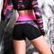 Фото 4  Спортивные шорты женские H31-P22, черные с розовым