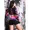 Фото 3  Спортивные шорты женские H31-P22, черные с розовым