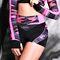 Фото 2  Спортивные шорты женские H31-P22, черные с розовым