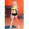 Фото 5  Спортивные женские шорты Totalfit H11-C1, черные с желтым