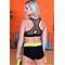 Фото 4  Спортивные женские шорты Totalfit H11-C1, черные с желтым