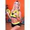 Фото 3  Спортивные женские шорты Totalfit H11-C1, черные с желтым