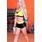 Спортивные женские шорты Totalfit H11-C1, черные с желтым
