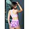 Фото 4  Женские шорты для фитнеса Totalfit H11-P23, розовые с сиреневым рисунком
