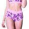 Фото 2  Женские шорты для фитнеса Totalfit H11-P23, розовые с сиреневым рисунком