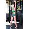 Фото 5  Женские спортивные шорты Totalfit H11-P24, зеленые с черным
