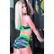 Фото 3  Женские спортивные шорты Totalfit H11-P24, зеленые с черным