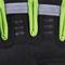 Фото 3 Перчатки спортивные велоперчатки женские Spokey ELENA II 921313 черные с салатовым