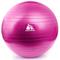 Фото 2 Фитбол (мяч для фитнеса) METEOR (31132), с насосом, 55 см, розовый