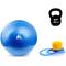 Фитбол (мяч для фитнеса) METEOR (31133) 65 см, с насосом, синий