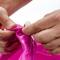 Фото 5 Фитбол (мяч для фитнеса) с рожками METEOR (31418), 55 см, розовый