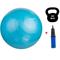 Фитбол (мяч для фитнеса) Spokey Fitball MOD (920940), с насосом, 55 см, голубой